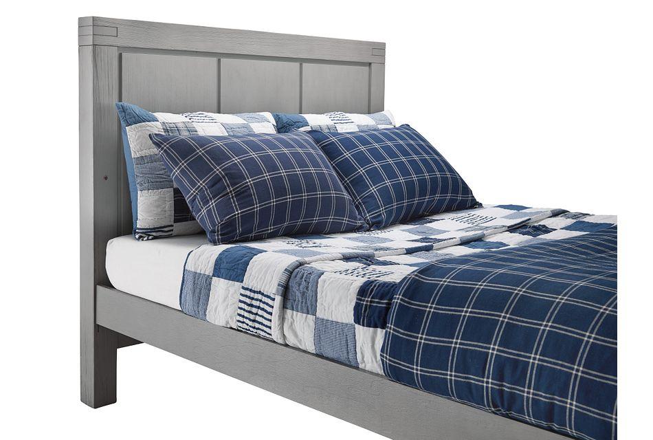Piermont Gray Panel Bed