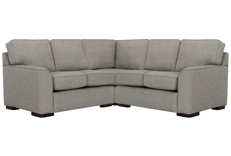 Austin Gray Fabric Small Two-arm Sectional
