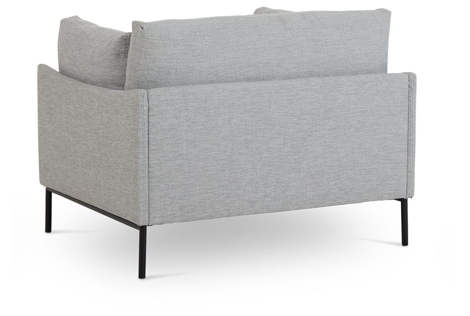 Oliver Light Gray Fabric Chair