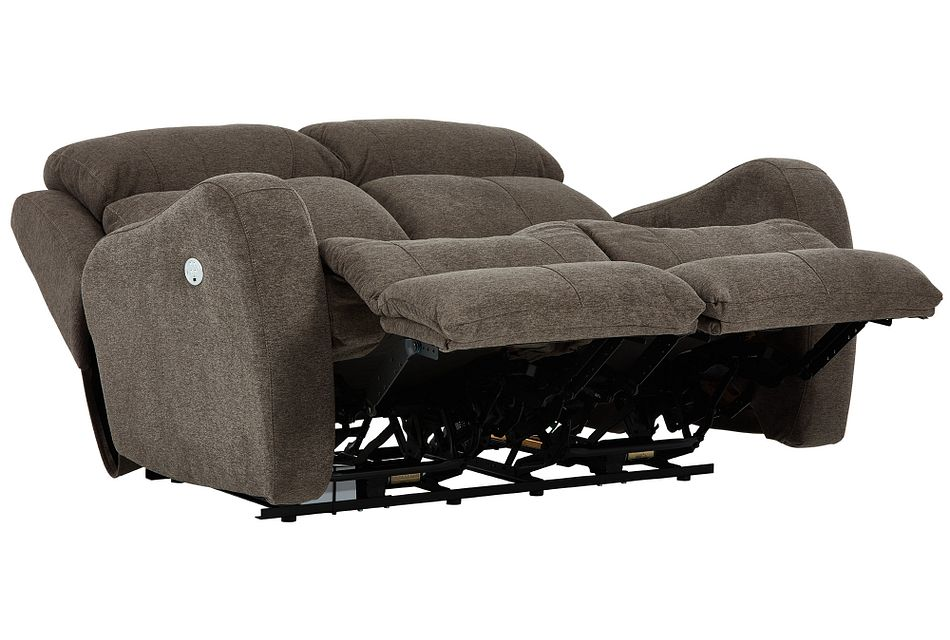 Finn Brown Fabric Power Reclining Loveseat