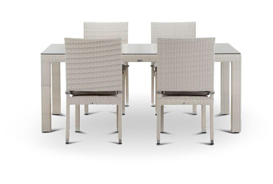 "Bahia Gray 72"" Rectangular Table & 4 Chairs"