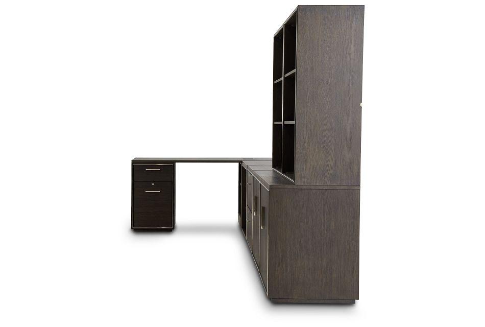 Highline Dark Tone 5 Piece L Desk,  (3)