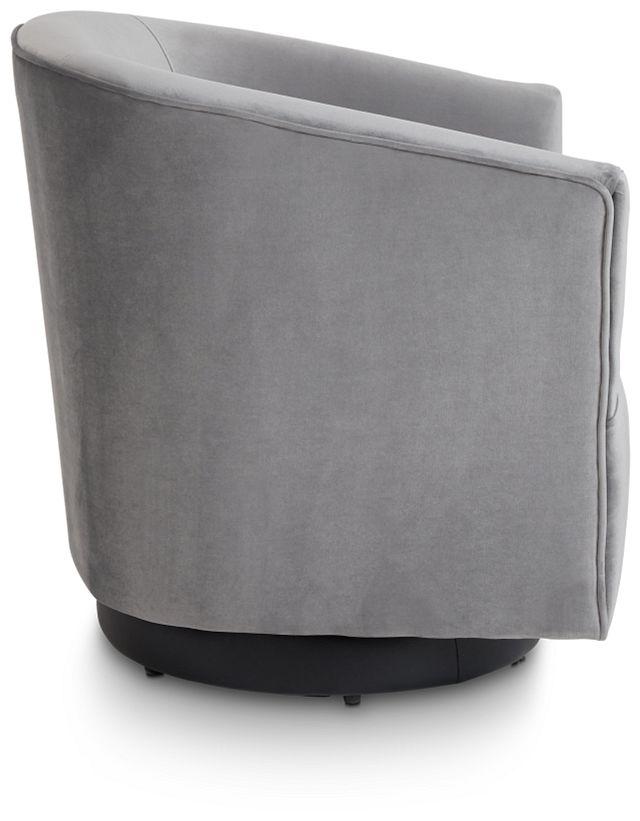 Charlotte Dark Gray Velvet Swivel Accent Chair (2)