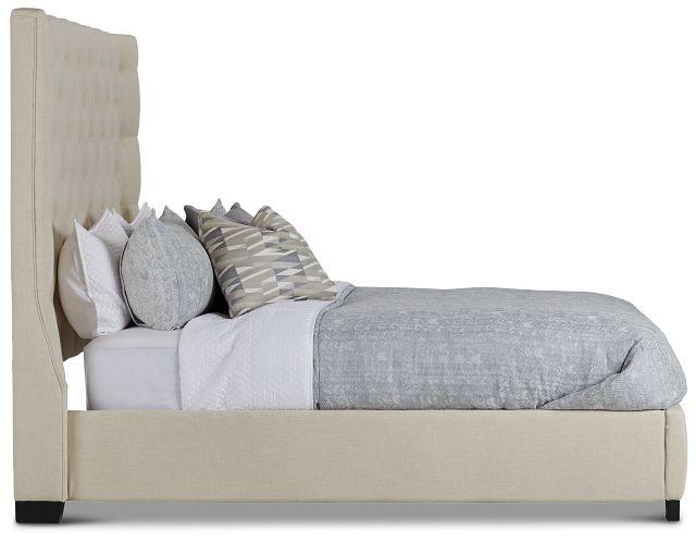Rylee Beige Uph Platform Bed (2)