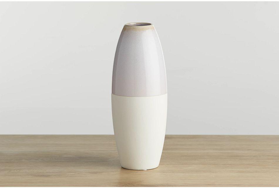 Aster Beige Large Vase