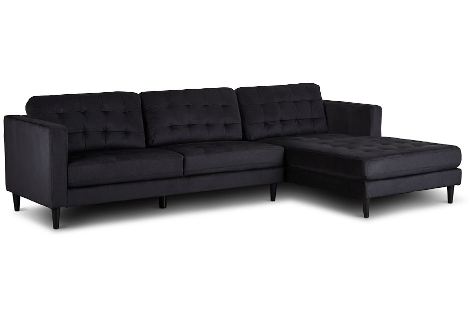 Shae Dark Gray Micro Right Chaise Sectional