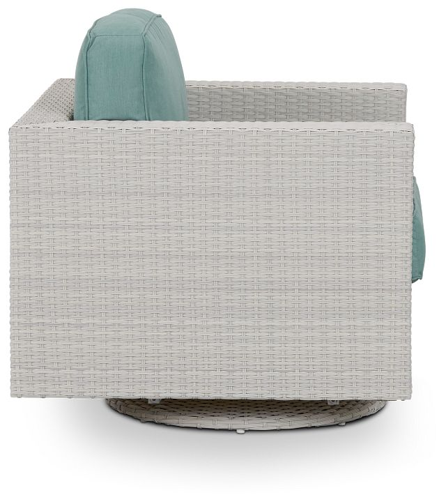 Biscayne Teal Swivel Chair (1)