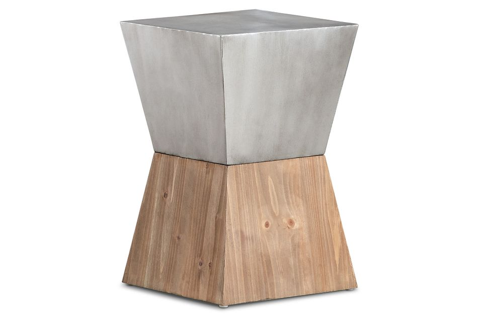 Brixton Two-tone Square Accent Table