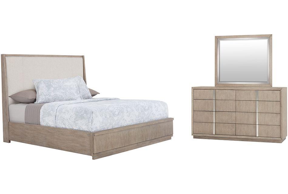 Gramercy Light Tone Uph Platform Bedroom