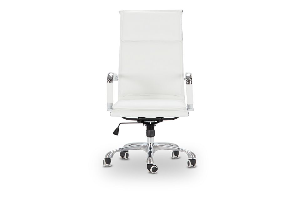 Arvada White Uph Desk Chair, %%bed_Size%% (3)