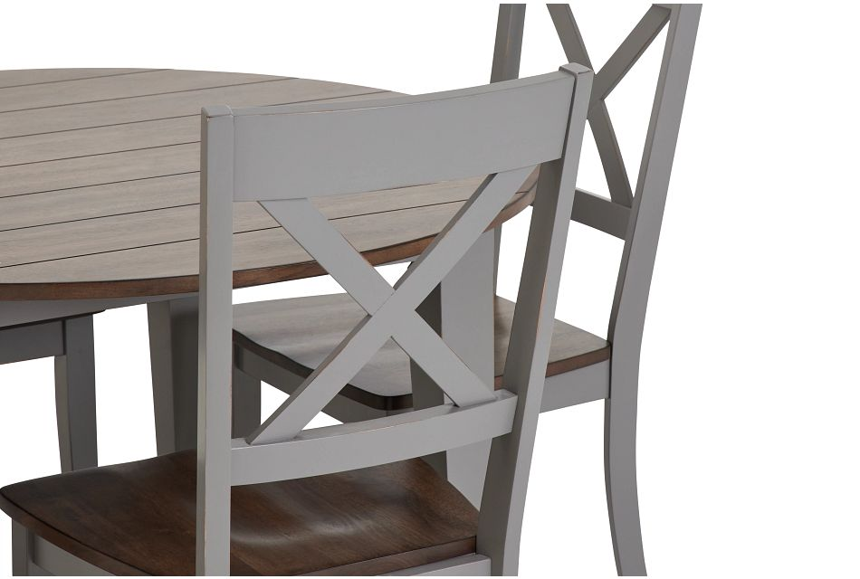 Sumter Gray Round Table & 4 Chairs