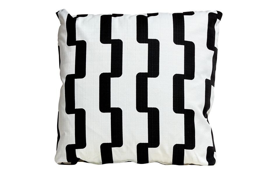 "Rhyme Black 20"" Indoor/outdoor Accent Pillow"