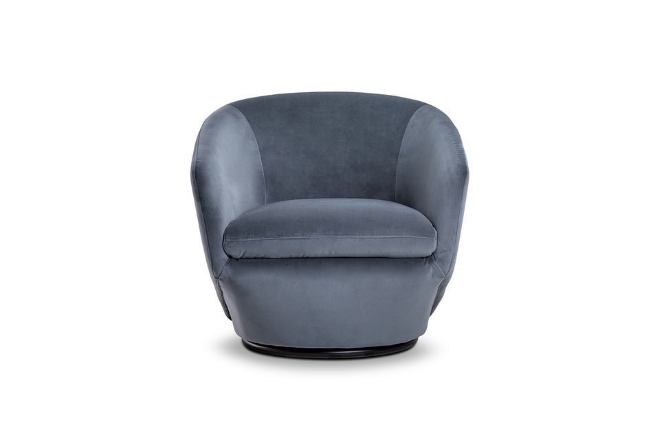 Darian Light Gray Velvet Swivel Accent Chair