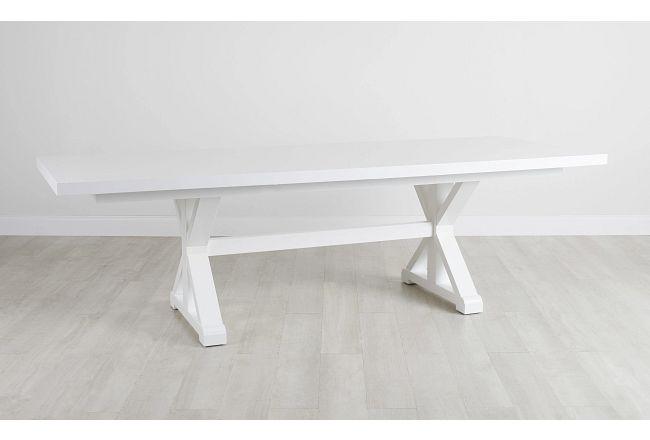 Nantucket White Trestle Table