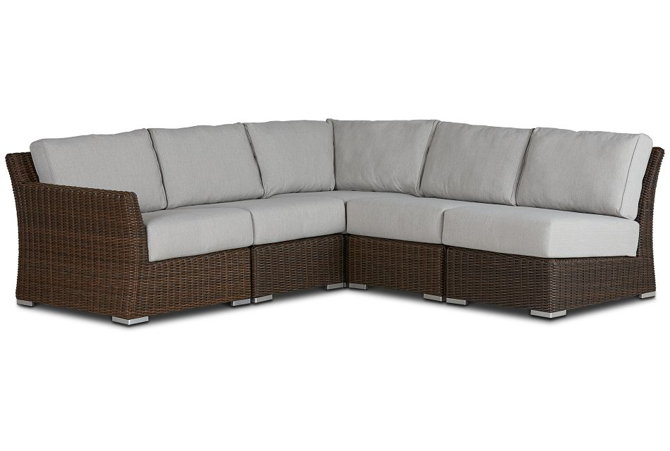 Southport Gray Left 5-piece Modular Sectional