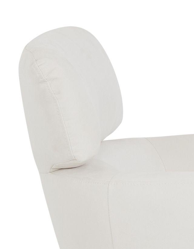 Wynn White Micro Swivel Accent Chair