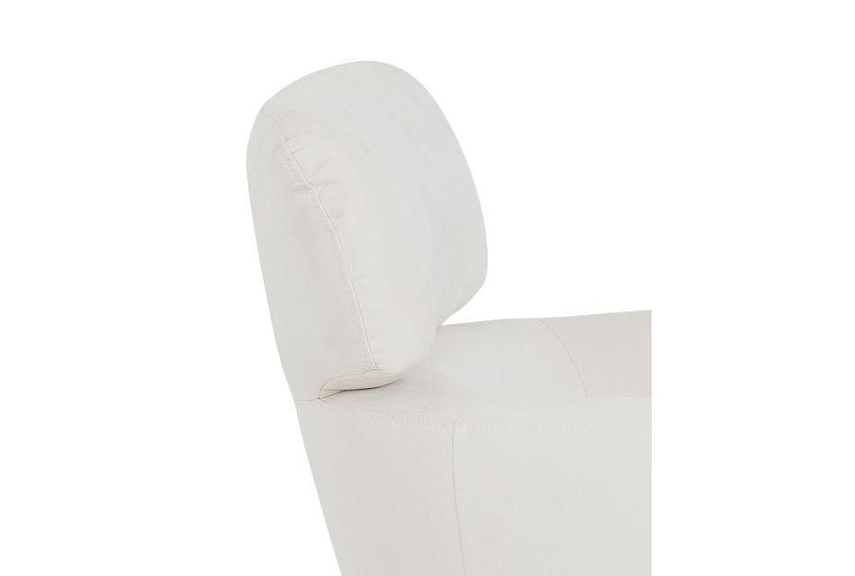 Wynn White Micro Swivel Accent Chair,  (3)