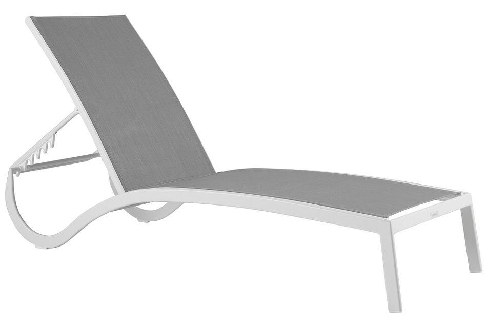 Lisbon Gray Sling Chaise