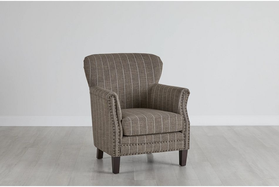 Layla Brown Fabric Accent Chair