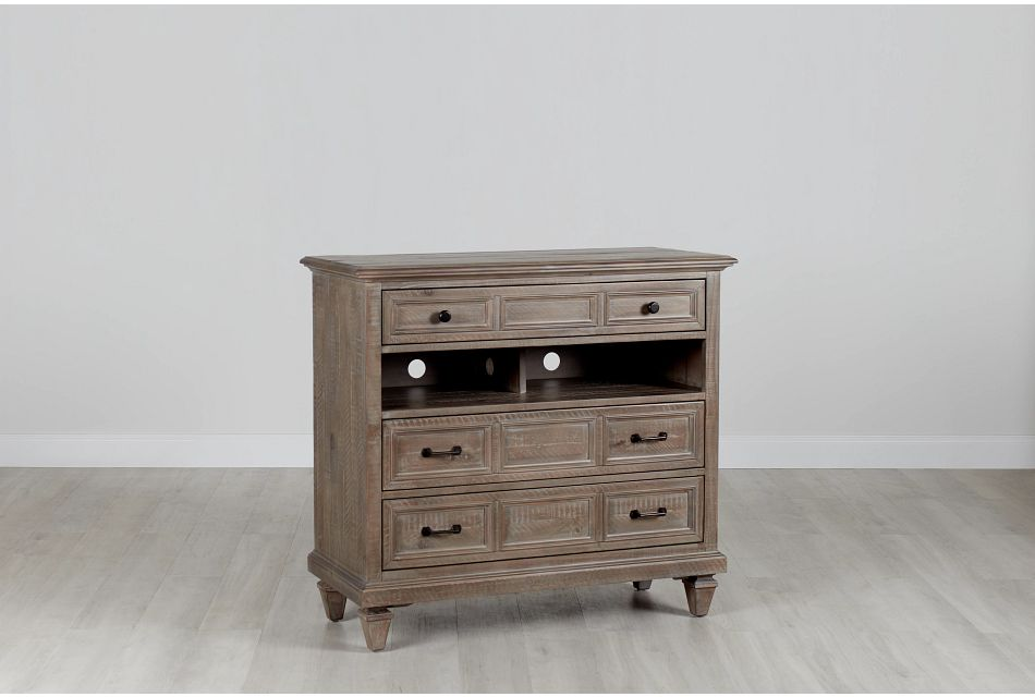 Sonoma Light Tone Media Chest