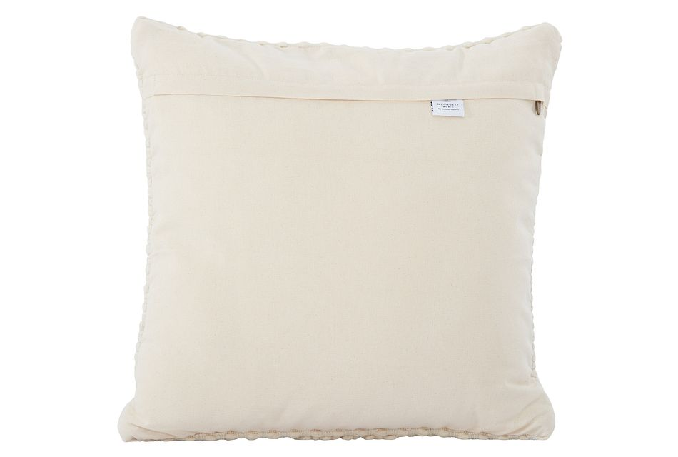 """Ellie Ivory 22"""" Accent Pillow"""