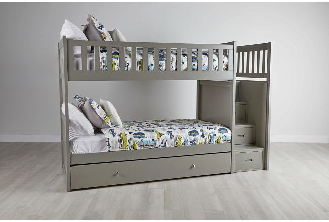Bailey Gray Storage Bunk Bed