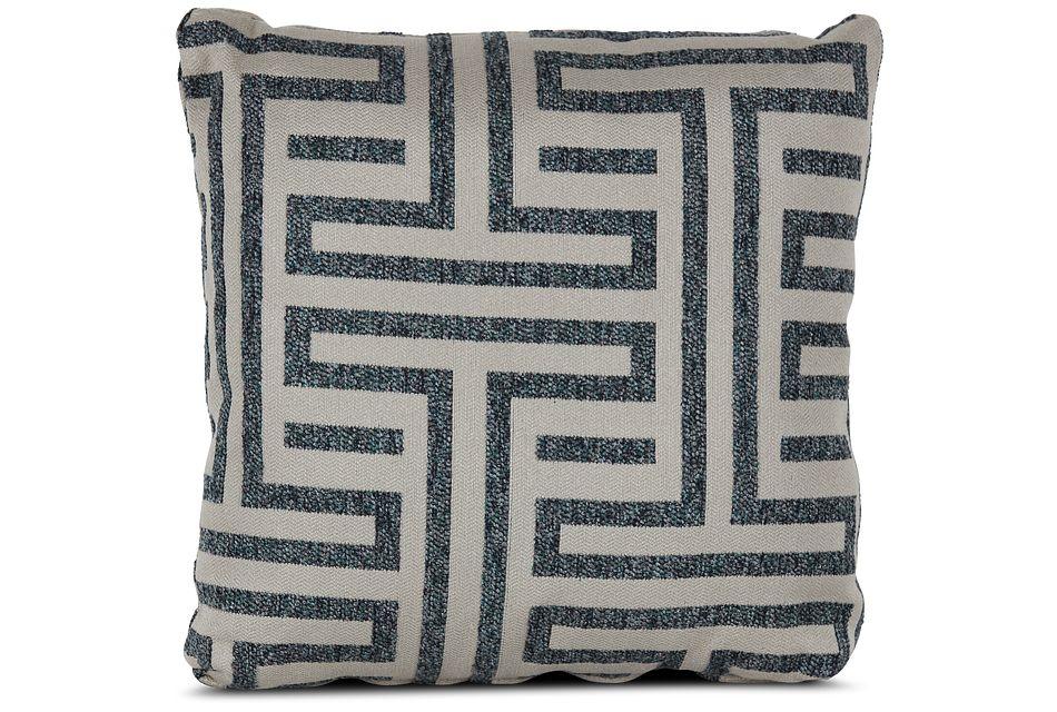 """Doric Blue 18"""" Square Accent Pillow"""