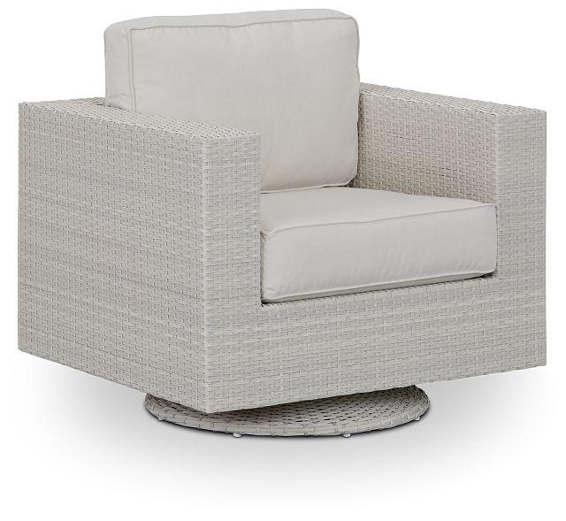 Biscayne White Swivel Chair (0)