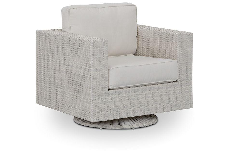 Biscayne White Swivel Chair