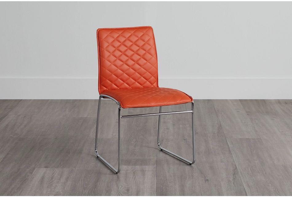 Skyline Orange Metal Side Chair