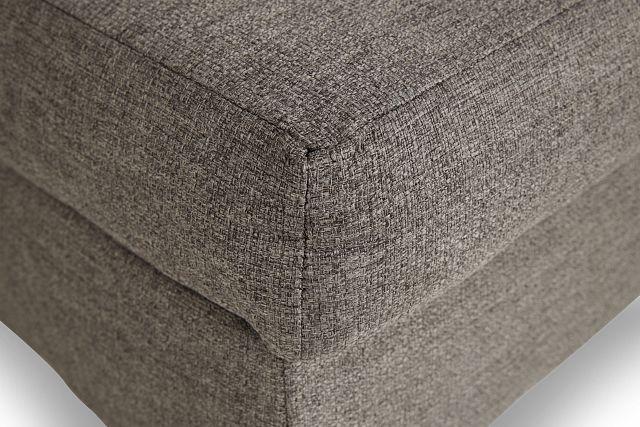 Jensen Dark Gray Fabric Storage Ottoman