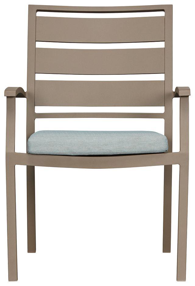 Raleigh Teal Aluminum Arm Chair (1)