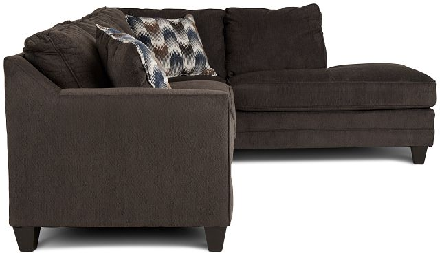 Charlie Dark Gray Fabric Right Bumper Sectional (2)