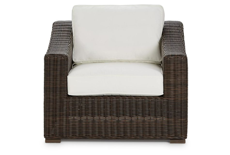 Canyon Dark Brown White Chair