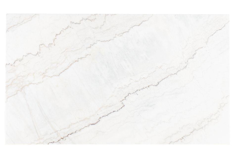 Auburn White Marble Rectangular Table, %%bed_Size%% (3)