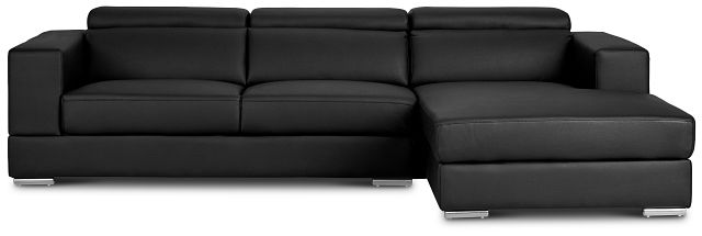 Maxwell Black Micro Right Chaise Sectional (3)