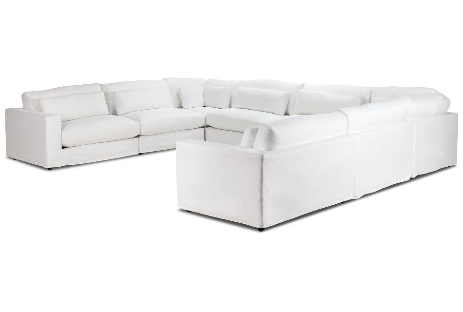 Cozumel White Fabric 8-piece Modular Sectional