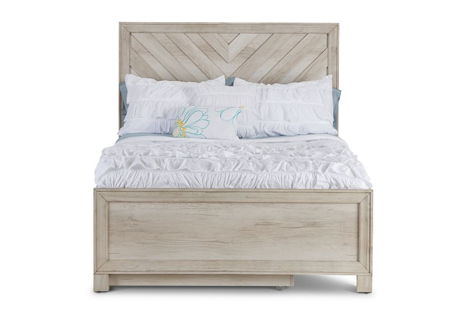 Casper Light Tone Panel Trundle Bed