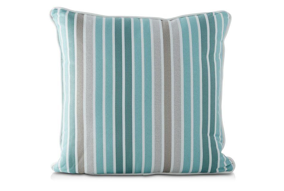 """Spring Aqua 18"""" Indoor/outdoor Square Accent Pillow"""