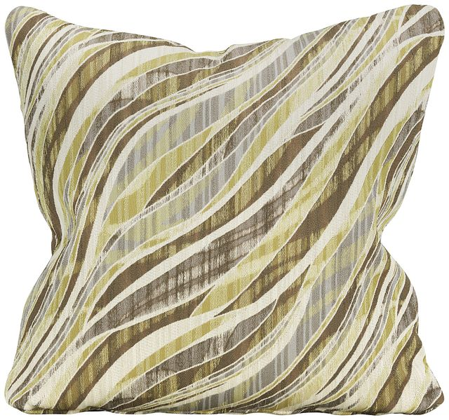 Vivid Green Fabric Square Accent Pillow (0)