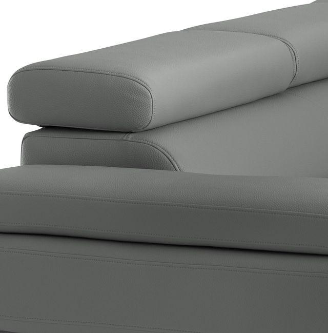 Zane Dark Gray Micro Right Chaise Sectional