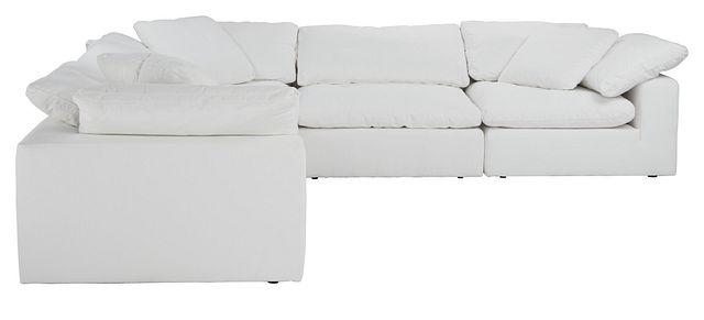 Nixon White Fabric 5-piece Modular Sectional (3)
