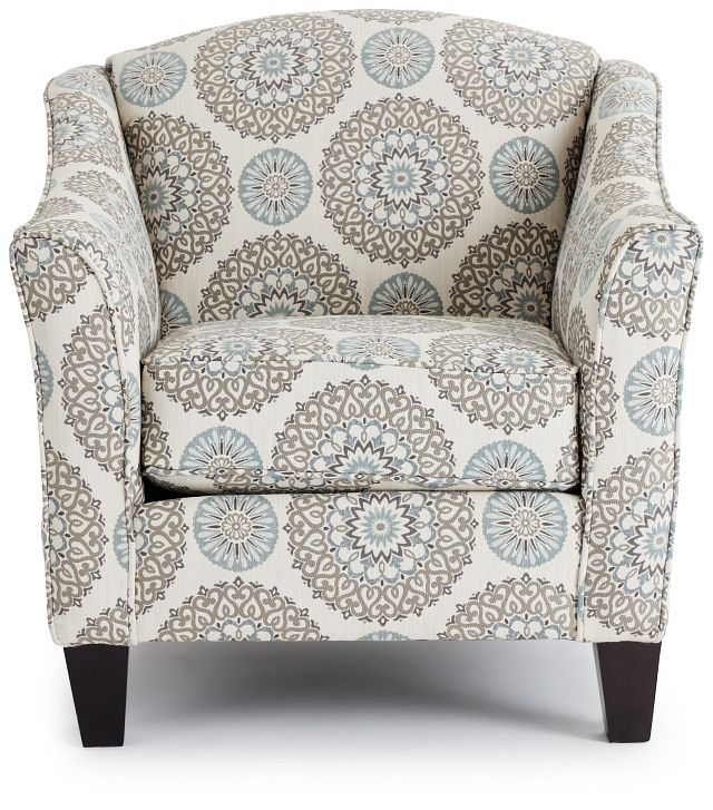 Meadow Multicolored Fabric Accent Chair (3)