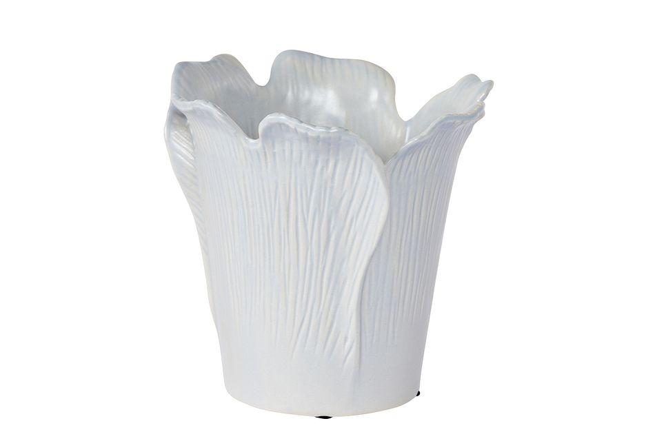 Peony Light Blue Ceramic Vase