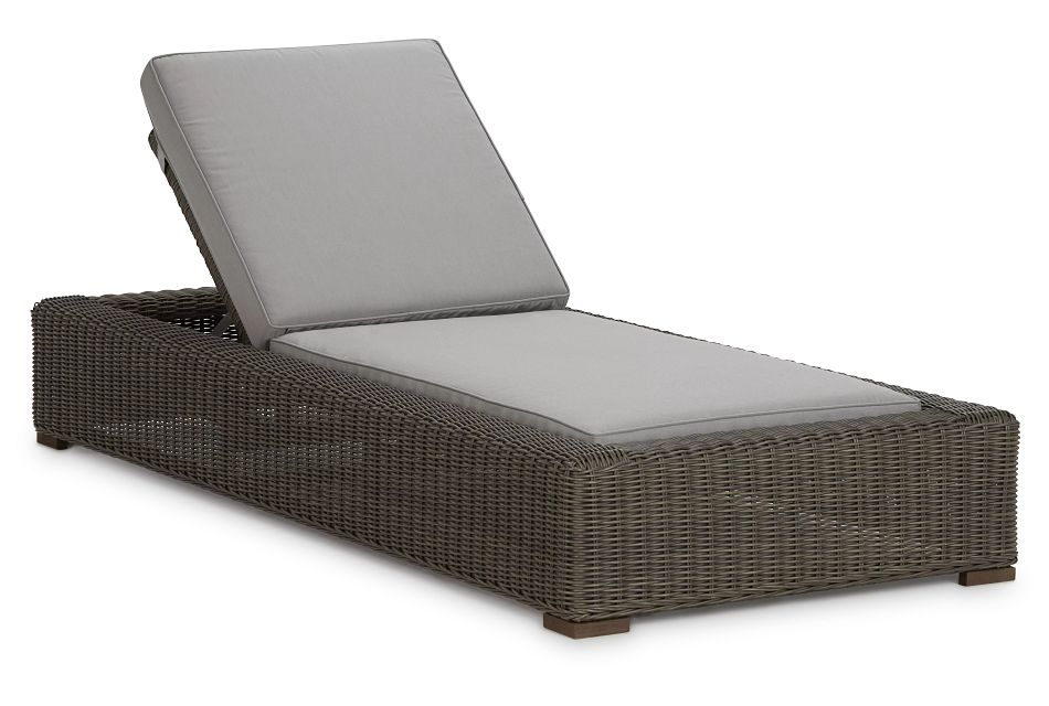 Canyon Gray Cushioned Chaise