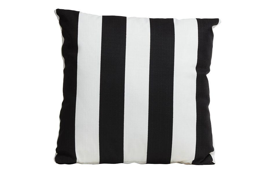 """Vertical Black 20"""" Indoor/outdoor Accent Pillow"""