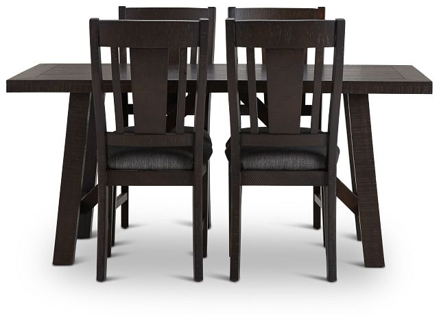 Cash Gray Rect Table & 4 Upholstered Chairs (2)