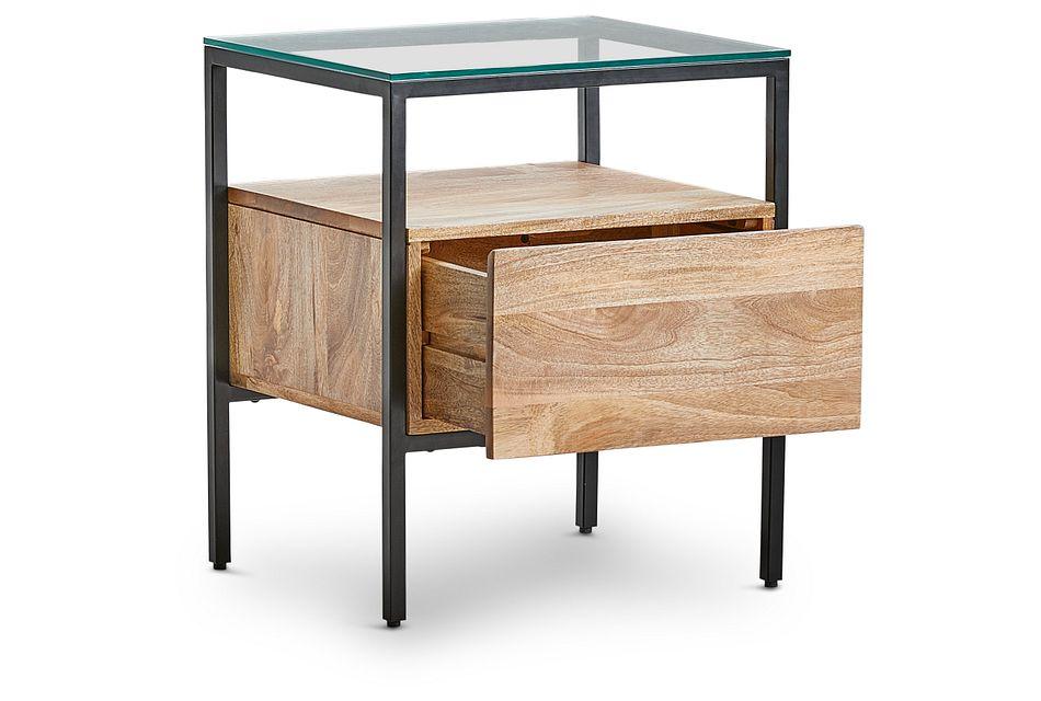 Conroy Dark Tone Glass End Table