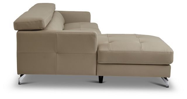 Marquez Taupe Micro Left Chaise Sectional (2)