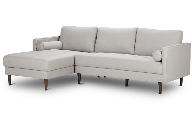 Rue Light Beige Fabric Left Chaise Sectional